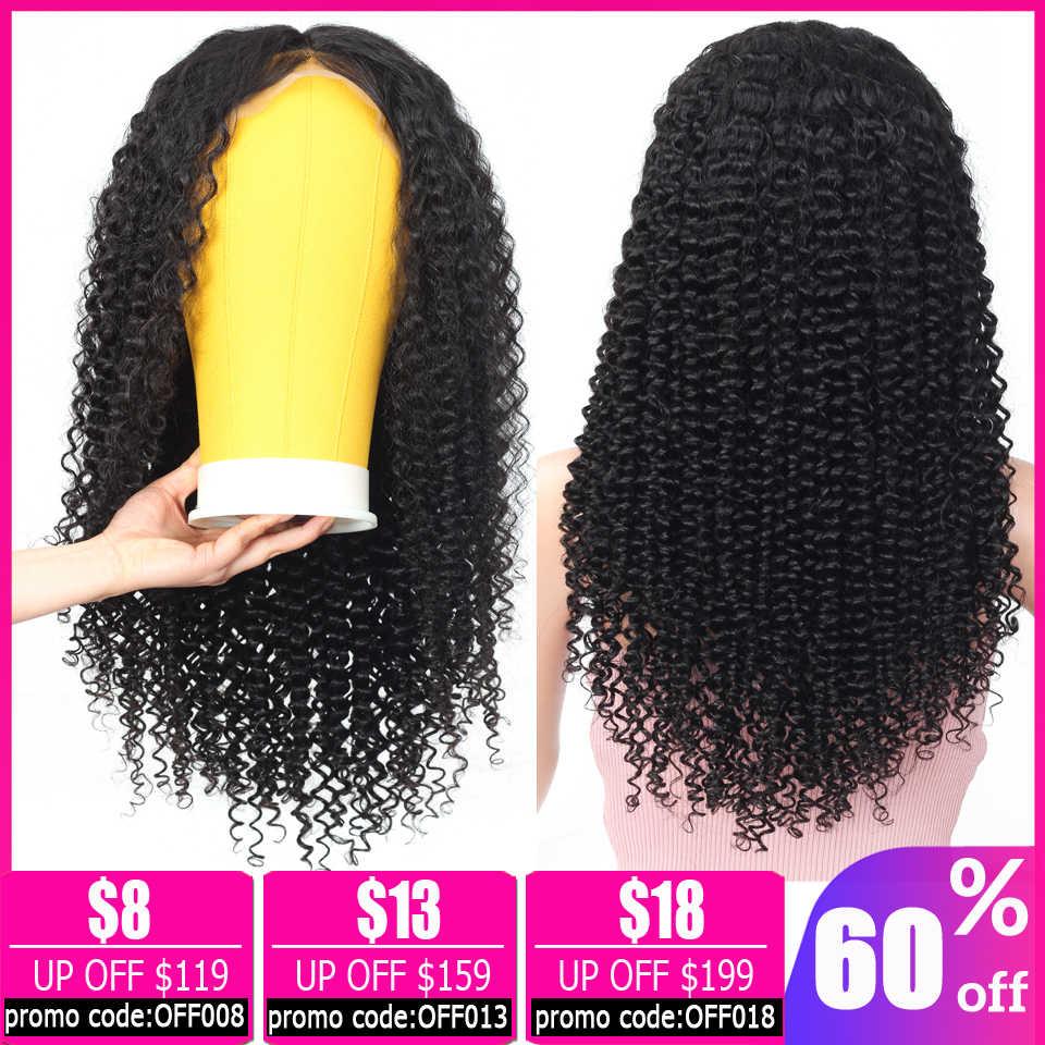 Afro perwersyjne kręcone ludzkie włosy peruka brazylijski peruka krótki 13x4 koronki przodu włosów ludzkich peruk dla kobiet bob koronki przodu peruki nie Remy