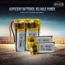 4pc 50mah 3.7v 401020 li-lon bateria recarregável do polímero para brinquedos carros bluetooth alto-falante fone de ouvido bluetooth produtos digitais
