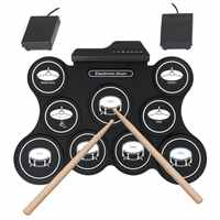 Percussion Instrument Portable Drum Kit Jazz Drum USB Silica Gel Electronic Drum G4009 Roll up Drum