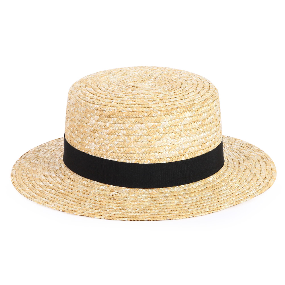 Sunproof Sailor Beach UV Protection Wide Brim Boater Summer Unisex Travel Holiday Casual Fashion Straw Hat Adult