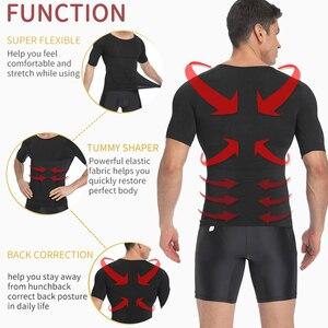 Image 2 - Herren Body Shaper Bauch Control Shapewear Mann Shapers Modellierung Unterwäsche Taille Trainer Korrektur Haltung Abnehmen Weste Korsett