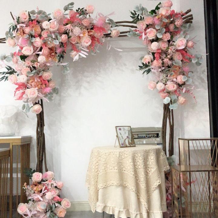 Corner Flower Wedding Decoration Artificial Flower Arrangement Wall Background Shop Decoration