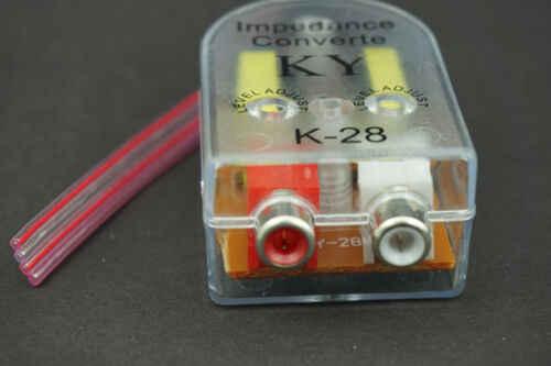 Высококачественный низкочастотный динамик Регулируемый преобразователь импеданса линия RCA