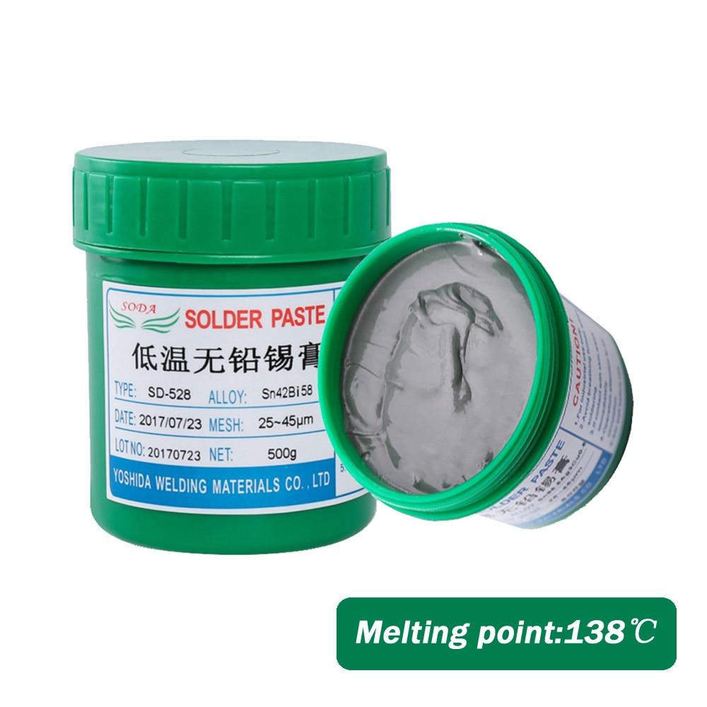 High Quality Lead-Free Solder Paste SD-528 Fresh Low Temperature BGA Solder Paste Sn42Bi58 For BGA Soldering Paste Solder SMT