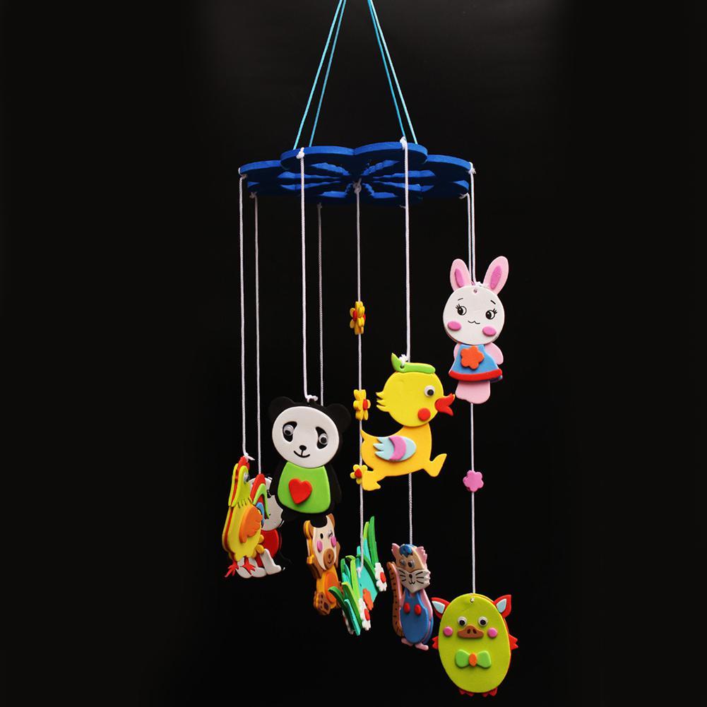 1Pc DIY Campanula Wind Chime Set Kids Wall Hanging Curtain Decoration Arts Crafts Pendant Toys