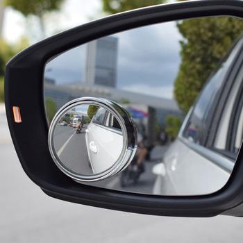 2 sztuk srebrny czarny samochodu 360 stopni obrót lusterko wsteczne Blind Spot martwej strefy lustro szeroki kąt okrągły wypukły małe lusterko do parkowania tanie i dobre opinie CHIZIYO CN (pochodzenie) 5 8cm 2020 A690 Glass ABS Lustro i pokrowce Rearview Mirror 0 09kg 360 degrees 2pcs set