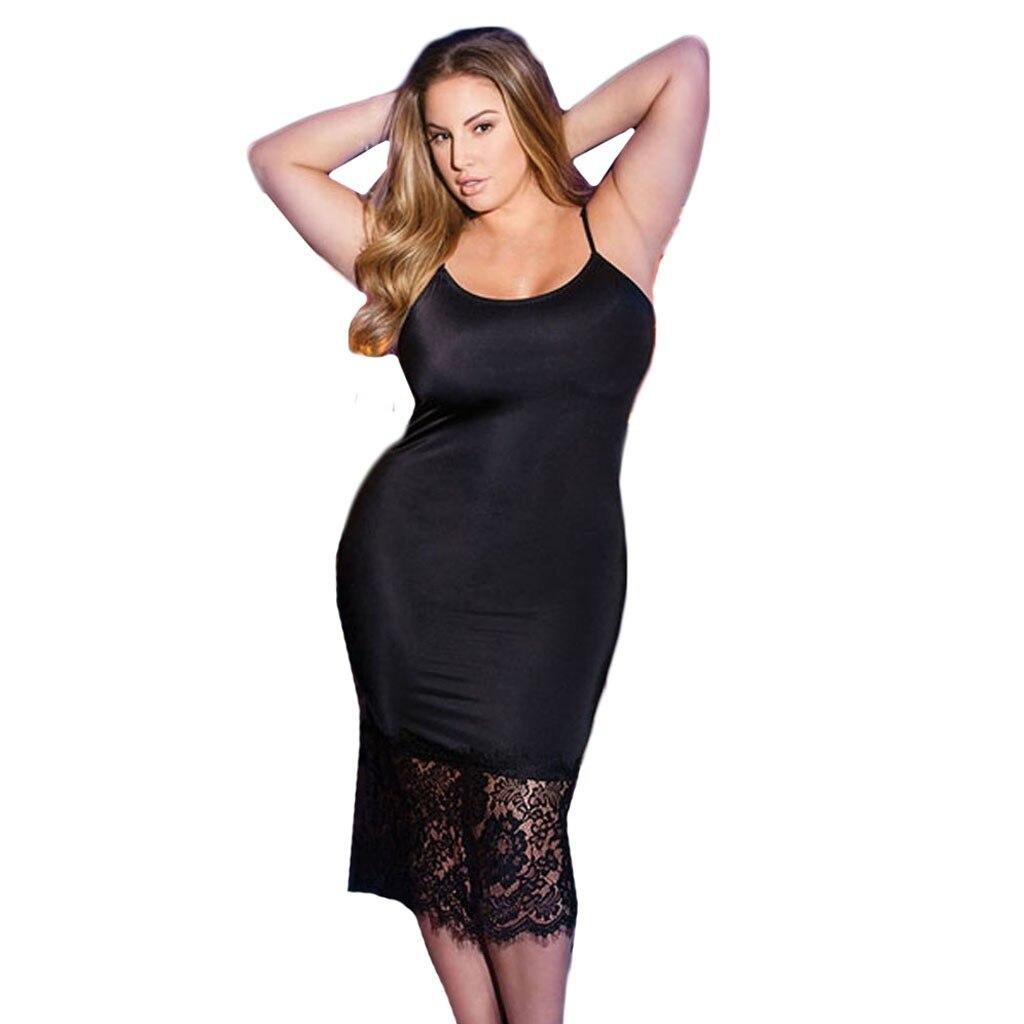 Plus Size 3XL-5XL Women's Nightdress Lingerie Women Lace Sexy Underwear Lingerie Black Nightdress Underwear Camison De Damas