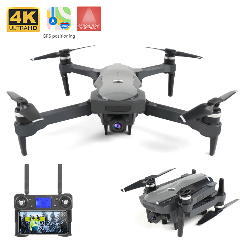 XKJ New Drone Brushless Motor 5G GPS Drone With 4K Dual Camera Professional Foldable  Quadcopter Long Remote Distance Drones