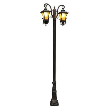 Открытый сад уличный фонарь вилла ретро водонепроницаемый IP54 газонный светодиодный светильник высокий шест 2,3 м жилых сад Пейзаж лампы