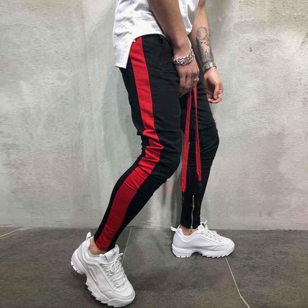 2019 Men's Jogging Pants Multi-pocket Pants Elastic Waist Sweatpants Brand Pants Overalls Straight Trousers Men