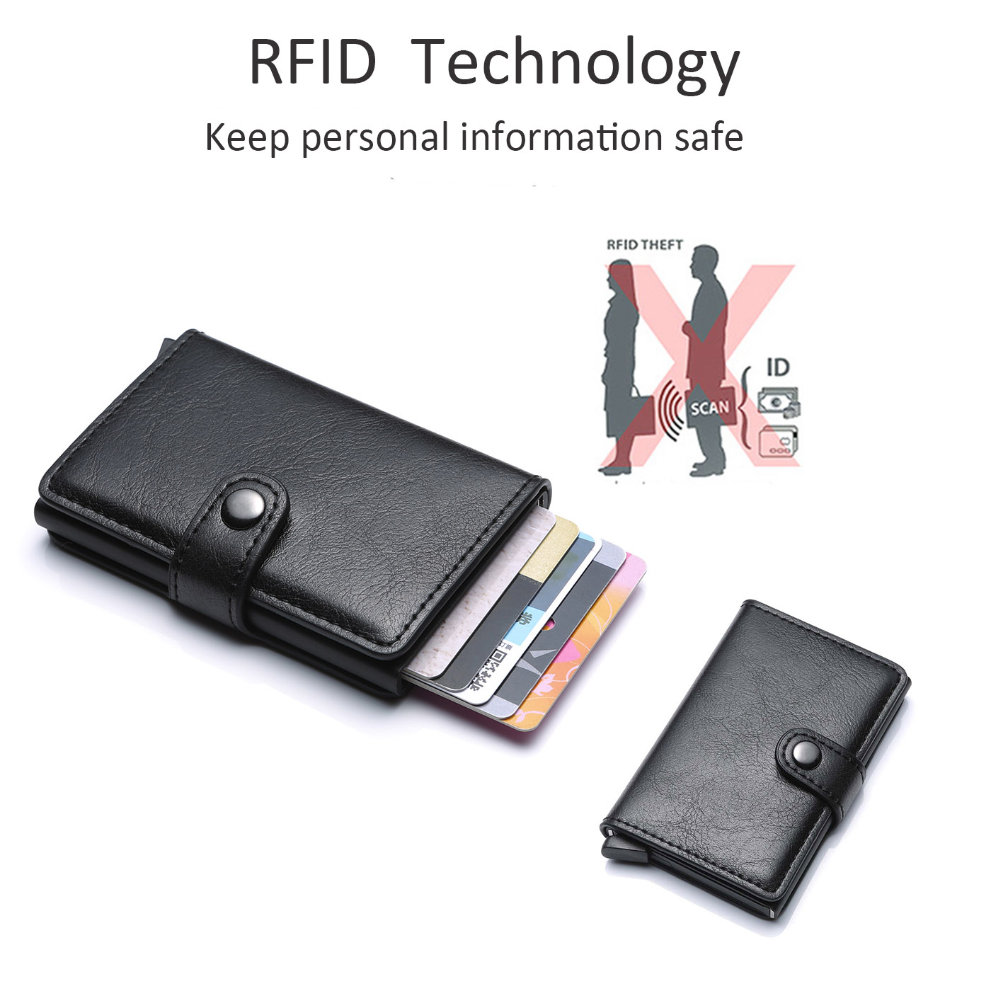top 2020 Rfid Card Holder Men Wallets RFID Quality Male Vintage Black Short Purse Small Leather Slim Wallets Mini Wallets Thin