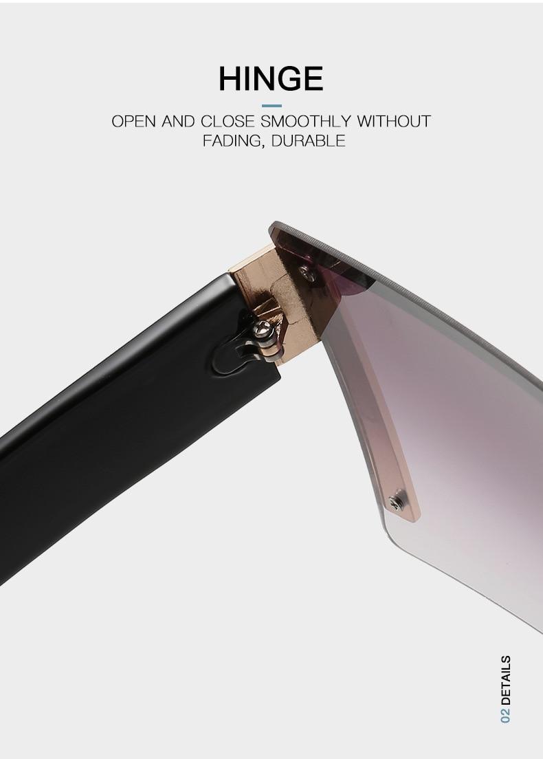 Luxury Brand Women's Sunglasses Square Sunglass Lady Designer 2021 trend Cool Vintage Retro Sun Glasses Rimless Shades For Women (4)
