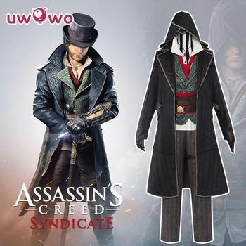UWOWO Jacob Frye Cosplay Assassin's Creed Syndicate Anime Cosplay Costume Per Gli Uomini di Assassin Costume Uniforme