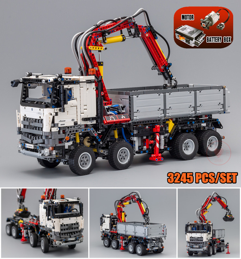 New Technic Series Arocs Truck Model Sets fit technic truck city model Building Blocks Bricks 42043