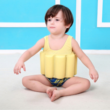 Swimming auxiliary children buoyancy suit swimming cap swimsuit baby safety swimsuit boys swimsuit