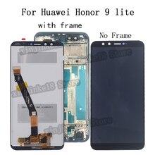 Pantalla LCD AAA para móvil, montaje de digitalizador con pantalla táctil, piezas de repuesto para Huawei Honor 9 lite LLD AL00 AL10 TL10 L31