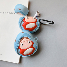 HOT Anime Ponyo case for airpods 1 2 charging box fashion cute fish soft silicone shockproof earphone protect cover Accessories