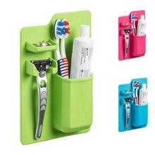 Силиконовые Зубная щётка держатель Ванная комната для хранения