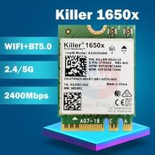 Killer 1650x ax200 AC Двухдиапазонная 2,4 Гбит/с Беспроводная AX200Wifi карта AX200NGW 802.11AX/AC/A/B/G/N BT 5,0 ноутбук для Windows 10
