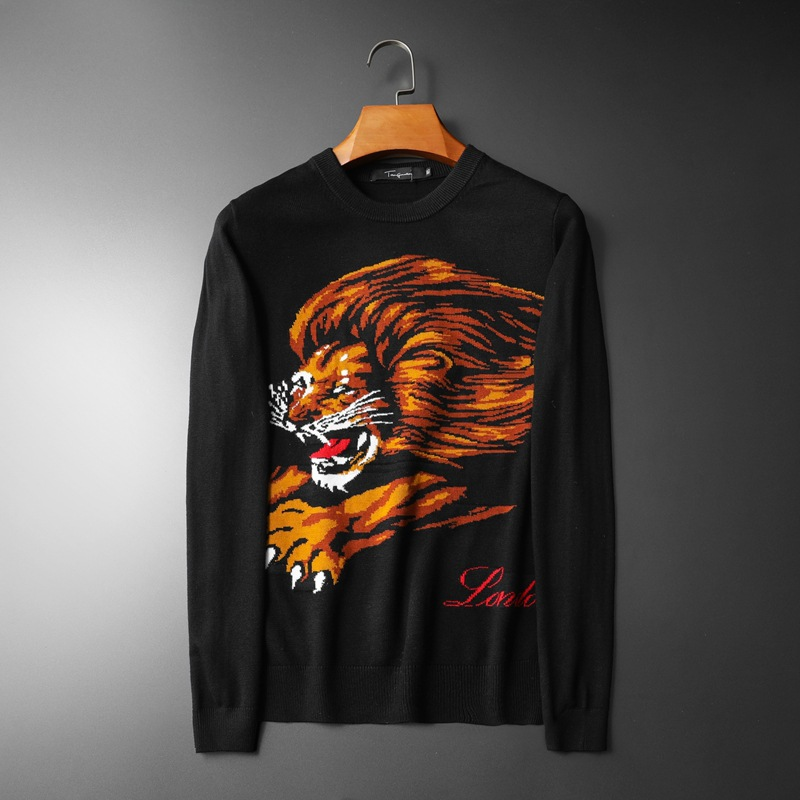 New 2019 Men Luxury Winter Hot Lions Letters Embroidered Casual Sweaters Pullover Asian Plug Size High Quality Drake #N43