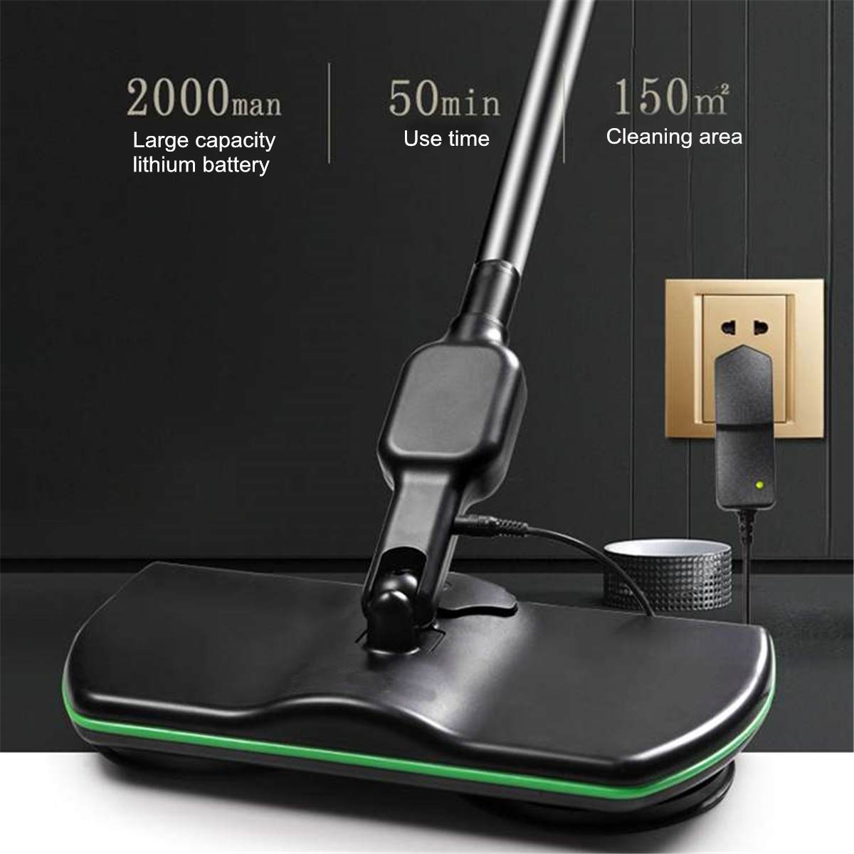 Electric Mop Wireless Rotating Rechargeable Floor Wiper Cordless  Sweeping Handheld Wireless Electric Mop Floor Washer