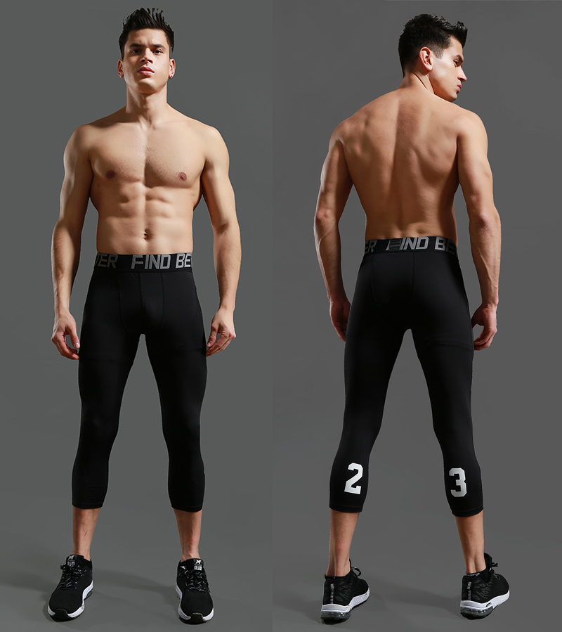 Men's Sports Gym Quick-Dry Workout Shorts with Leggings