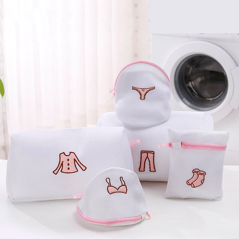 Bags For Washing Bra Socks Underwear Mesh Zipered Lingerie Laundry Bag Washing Machine Dirty Laundry Bags For Clothes Wash Kit
