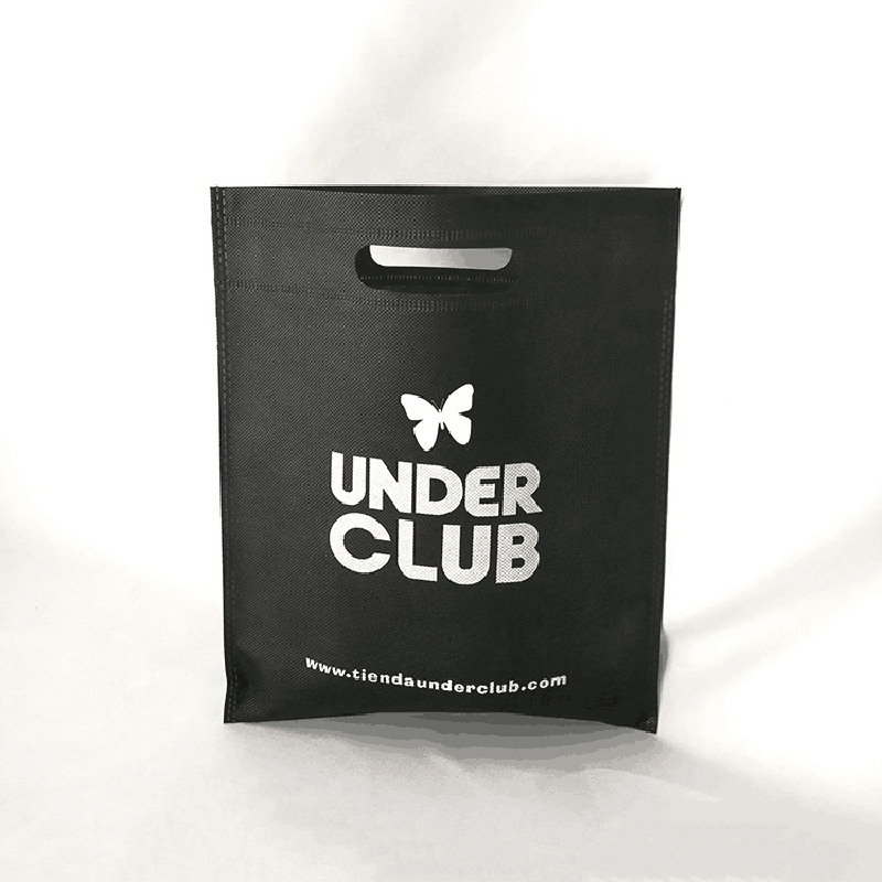 Оптовая продажа 500 шт./лот индивидуальная печать логотипа индивидуальная высечка ручки шоппинг подарок Нетканая сумка рекламная ткань дело...