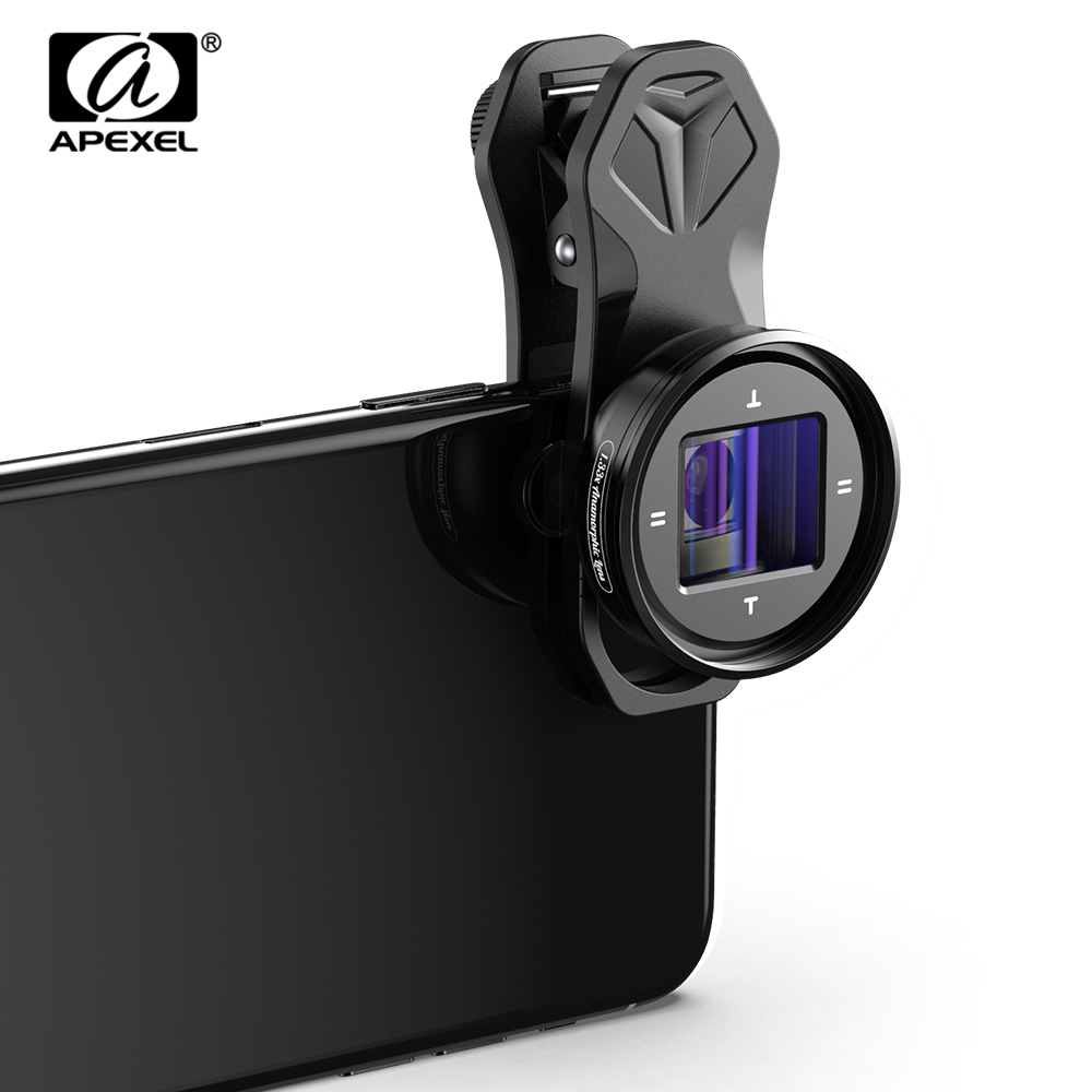 APEXEL 1.33x Anamorphic Lens 4K HD Widescreen Movie Lens Vlog Shooting Deformation mobile lens for iPhone Samsung smartphones