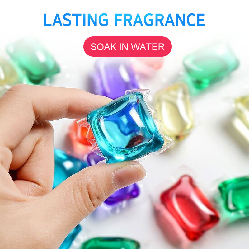 New 20pcs 8 Times Concentrated Laundry Capsules Washing Liquid Phosphorus Free Environmental Protection Laundry Detergent TSLM1
