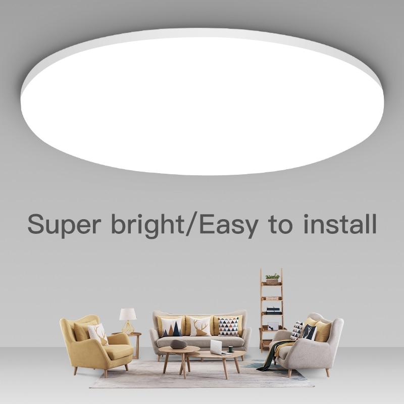 Luzes de teto led modernas lâmpadas de teto led 220 v 15 w 20 30 50 luminária superfície montado para decoração casa sala estar|Luzes de teto| |  - title=