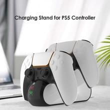Support de station de charge, anti-poussière, Portable, décor de transport, double contrôleur sans fil pour manette de jeu PS5