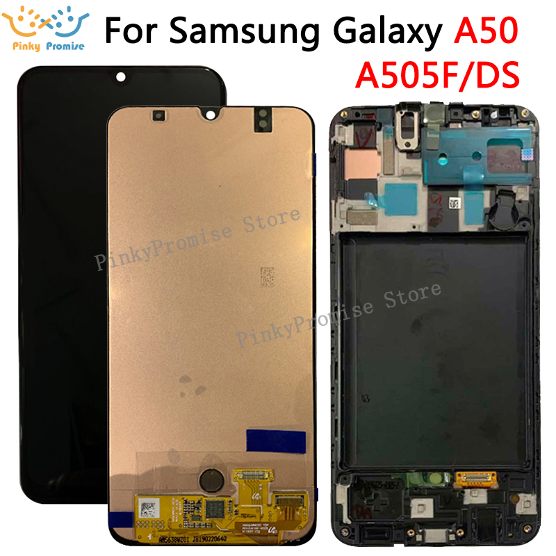 For Samsung galaxy A50 A505F DS A505F A505FD A505A Display Touch Screen Digitizer Assembly For Samsung