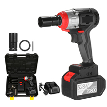 Impact-Wrench Brushless-Motor Cordless Speed-Impact-Kit Quick-Chuck Torque Fast-Charger