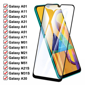 999D Protective Glass For Samsung Galaxy A01 A11 A21 A31 A41 A51 A71 Screen Protector M01 M11 M21 M31 M51 A30 A50 Safety Glass