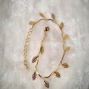 Sexy Simple Gold Anklet Ankle Bracelet Leaf Foot Chain Adjustable Women Jewelry