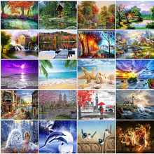 New arrival 5D diamond painting landscape diamond embroidery diamond mosaic natural rhinestone pictures