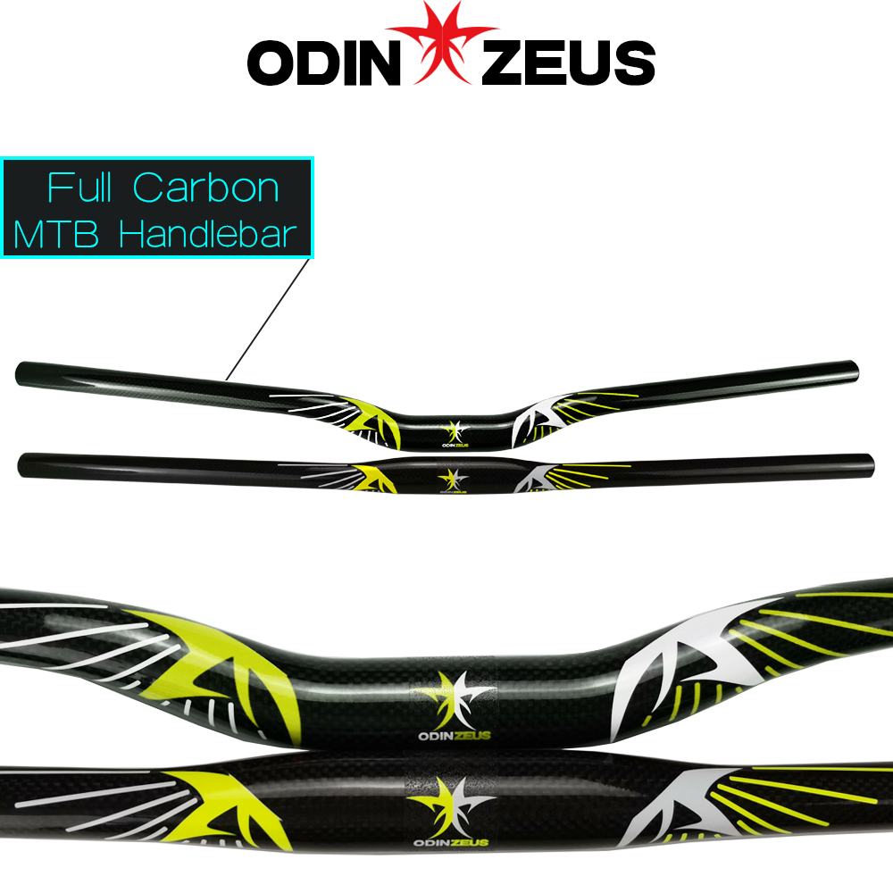odinzeus Super light <font><b>Carbon</b></font> Fiber Flat/Rise Mountain Bicycle <font><b>Handlebar</b></font> <font><b>MTB</b></font> Bike Parts <font><b>31.8</b></font>*580/600/620/640/660/680/700/720/740mm image