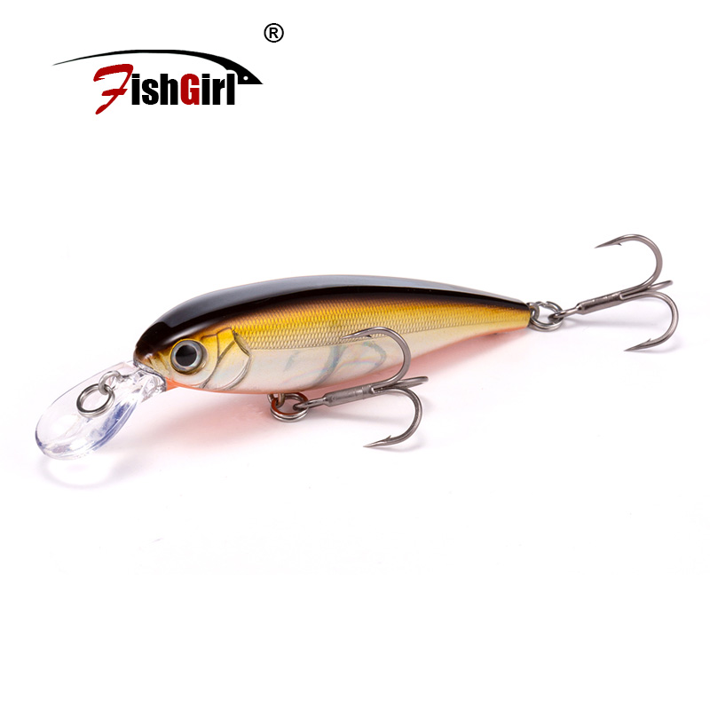 Pesca Hard Fishing Lures <font><b>60mm</b></font> 5g Slow Floating <font><b>Minnow</b></font> Fishing Wobbler Isca Artificial Baits For Bass Perch Pike image