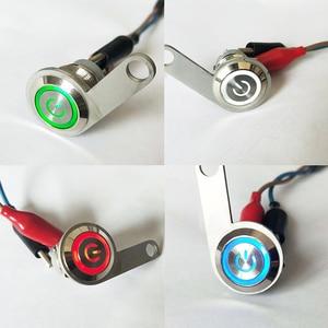 Image 2 - 12 v 오토바이 라이트 스위치 led 핸들 바 헤드 라이트 foglight on/off 스위치 atv 스쿠터 쿼드 오토바이에 대 한 3 와이어 led 푸시 버튼
