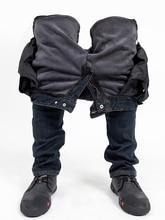 Männer der Motorrad Stilvolle Reiten Fleece Warme Winter Jeans Biker Dünne Beiläufige Hosen Mit Protector Super Fit