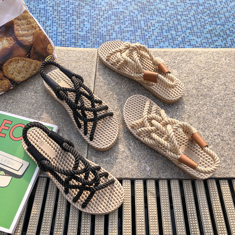 2020Sandals Woman Shoes Braided Rope With Traditional Casual Style And Simple Creativity Fashion Sandals Women Summer Shoes