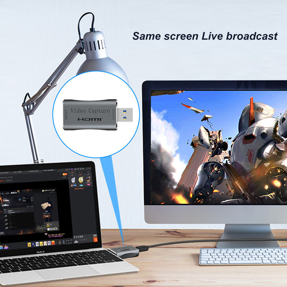 4K Video USB 3.0 capture card 1080p 60fps HDMI Video Grabber Record Box for PS4 Game Camcorder Camera Recording Live Streaming 2