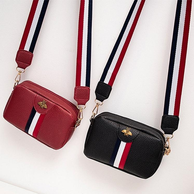 Wholesale Bee Women's Shoulder/Crossbody Bag Stripe Zipper Fashion Belt Wholesale 2020 New Style Mini Purse