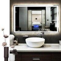 CTL305 Smart Mirror Wall mounted Anti fog Bathroom Mirror LED Touch Switch Bluetooth Bathroom Mirror 110V/220V 4.8W/m 800*1300mm