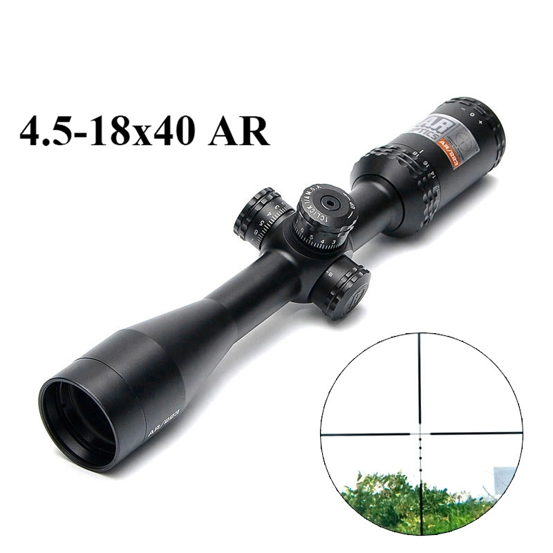 4.5-18x40 AR/223 Tactical Rifle Scope Outdoor Reticle Optic Sight Cross Riflescope Long Distance Hunting Scopes image