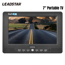 Leadstar 7 ''Portable Handheld Dvb-t/T2 Digital TV 16:9 ATSC 800*480 1080P TV Analog/ ATV Televisi Pemain Mobil Mini TV (UK Plug)(China)