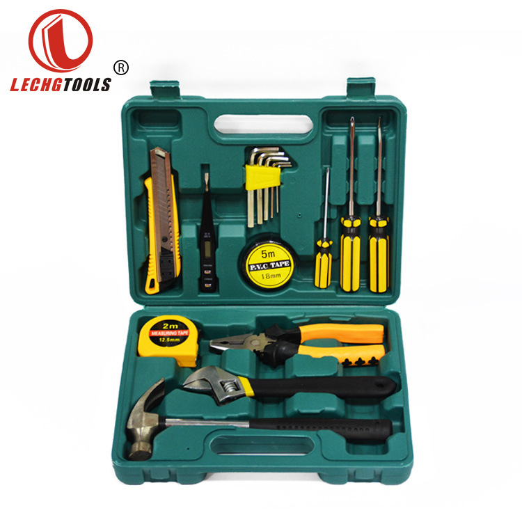 8-27 PCS Hand Tool Set Car Home Dual-purpose Manual Maintenance Tool Hardware Combination Wth Plastic Toolbox