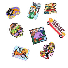 1PC Sticker For Clothes Cartoon Camping Riverdale Colorful Pattern Patches On Clothing Iron Embroidered Patch For Backpack Badge(China)