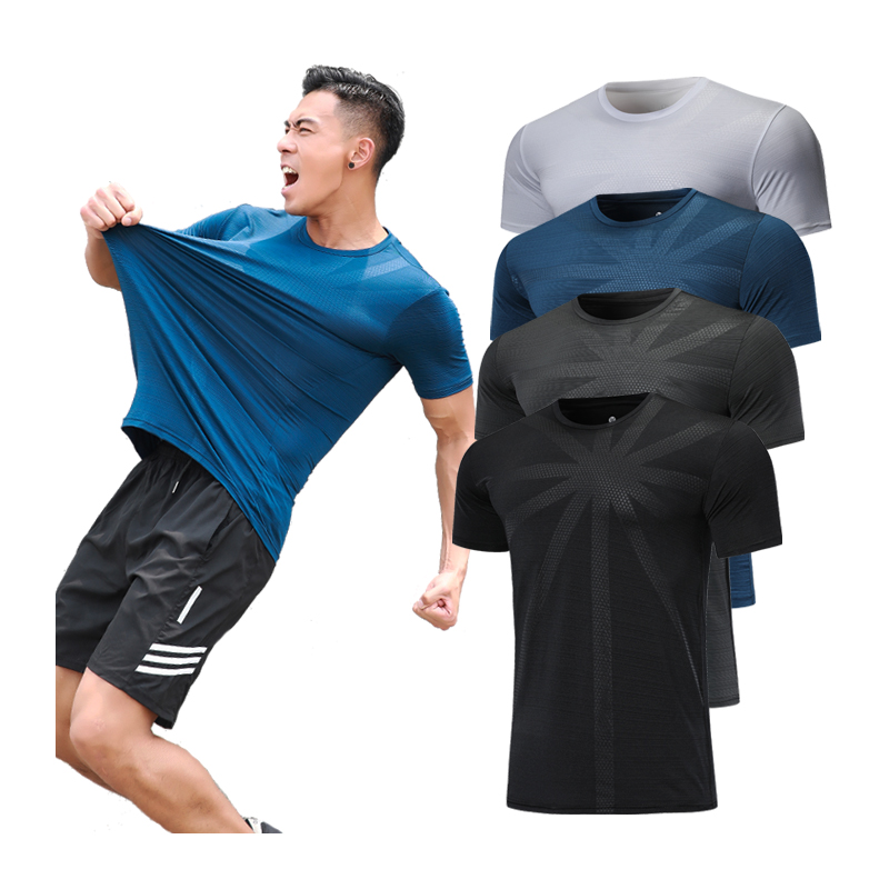 Print Sports Tee O Neck Quick Quick Drying Running Short Sleeve Tennis Soccer Training Jersey Gym New T Shirts